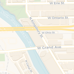 River North Area Chicago Map.Chicago Cityscape Map Of Building Projects Properties And